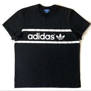 Adidas Men's Black Trefoil T Shirt